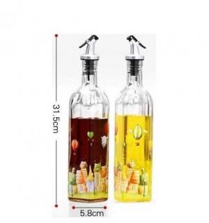 Engrasador de vidrio a prueba de fugas botella de vinagre jiangyouping botella de aceite condimento botella grande twinset utensilios de cocina