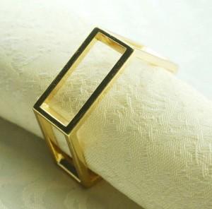 servilletero de metal dorado, servilletero para boda, 24 piezas