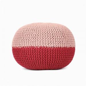 Puf otomano tejido a mano Reposapiés y taburete cómodos Puf reposapiés de suelo tejido a mano para sala de estar, dormitorio y escritorio debajo