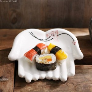 Platos de cerámica pintados a mano Utensilios de cocina Platos decorativos para el hogar Fruta Plato de sushi Placas de almacenamiento de joyas Plato de joyería