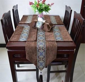 HAO JOY Luxury Europe Handcraft Crafts Estilo de Europa Mesa Runner Hot Silver Home Decor Table Decoration Table Cloth, 1 pieza
