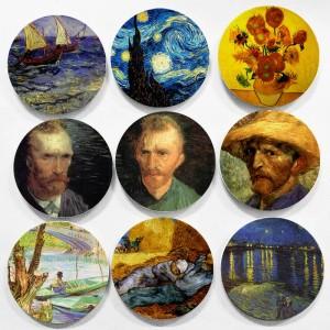 Holanda Famoso pintor Vincent Willem Van Gogh Pintura Colgante de pared Placas decorativas Estilo impresionismo para la decoración del hogar