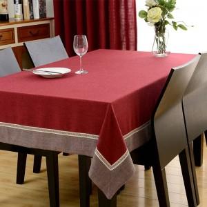 Hot European Trim Rectángulo Mantel Chenille Mesa de comedor Cubierta para la boda TV Gabinete Cojín Paquete Elegante Mantel