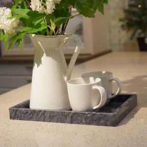 Bandeja de mármol natural InsFashion Elegent y Premium Rectangle para la decoración casera de estilo japonés y el uso controlado de posturas