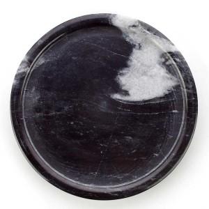 Bandeja de mármol redonda en blanco y negro de estilo simple de InsFashion para postres de estilo nórdico tienda de celebridades web