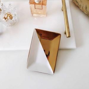 Rectángulo de estilo de la joyería de cerámica plateada del rectángulo del estilo simple de InsFashion para la muchacha de lujo y la decoración casera del estilo australiano