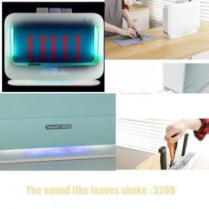 IRIVER BLANK UV índice eléctrico Tabla de cortar Esterilizador Cuchillos de cocina Máquina de desinfección, 3 piezas de tablas de corte para el hogar
