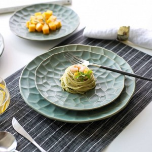 Placa de vajilla de cerámica creativa japonesa vajilla plato de cocina plato occidental filete de carne