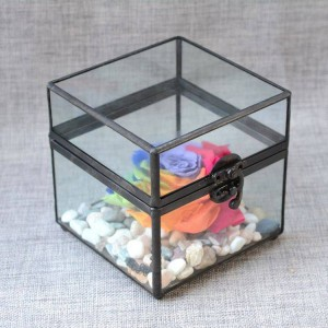 Joyero joyero artesanía de vidrio regalos de pareja regalos de boda caja de almacenamiento antigua