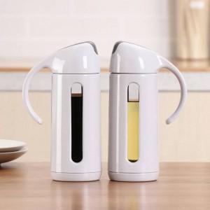 Artículos de cocina Botella de aceite de vidrio Aceite para el hogar Tanque a prueba de fugas Condimento Salsa de soja Vinagre Botella dispensador de aceite Suministros de cocina