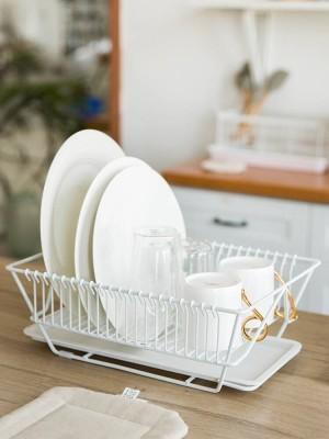 Rack de cocina Placa de lavado Palillos Plato Cuchillo Rack de almacenamiento Secado Rack de drenaje