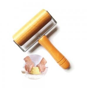 Cocina Roller Pin de madera con mango Fondant Cake Decoration Dough Roller Hornear herramientas de cocina accesorios de cocina 1 unids