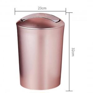 Gran capacidad 10L estilo europeo cubo de basura duradero cubo de basura de plástico con tapa baño cocina botes de basura suministros