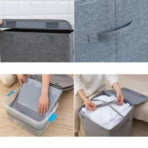 Cesta de almacenamiento de ropa sucia lavable grande Cesto de almacenamiento de almacenamiento simple para el hogar Cubo de almacenamiento de ropa de dormitorio plegable