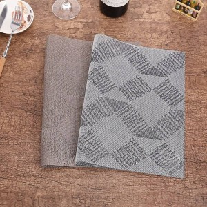 Lekoch 4 Unids / lote Mantel individual PVC Rectangular Estera de tabla Manteles individuales Antideslizante Recipiente de plástico Plato Cuenco Casa Cocina Cena Esteras del lugar
