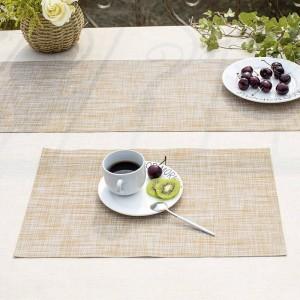 Lekoch 5 unids / lote manteles de mesa de PVC aislamiento antideslizante mantel individual manteles lavables posavasos de café para comedor mesa de cocina