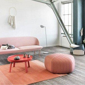 Reposapiés de silla baja con tapicería de tela