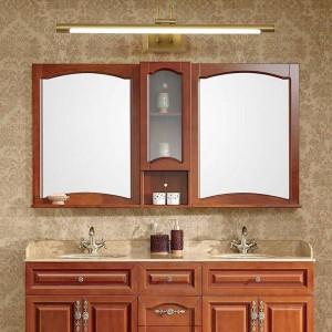 Espejo de cobre Faros American Bathroom LED Cabinet Lamp Nordic Makeup Hanglamp Home Deco Aplique de pared Aplique de iluminación