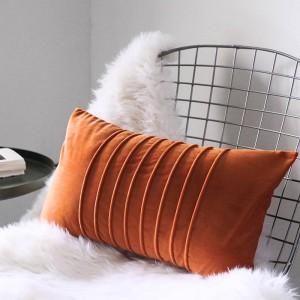 Funda de cojín de terciopelo de lujo Funda de almohadas decorativas de rayas generosas Almofadas Cojines Sofá Habitación modelo Fundas de coche esenciales