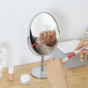 Espejo de maquillaje mesa redonda oval espejo de mesa damas sencillas de metal doble cara espejo de vanidad wx8281449
