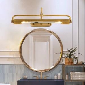 Espejo de cobre Luz de maquillaje led Lámpara de pared para faro largo para vestidor Lámpara de pared junto a la cama Pasillo Espejo de baño