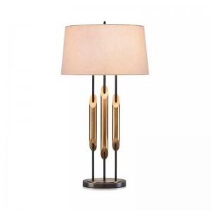 Lujo moderno lámpara de mesa LED de iluminación dormitorio lámpara de noche metal oro moda escritorio luz E27 lámpara arte casa deocration