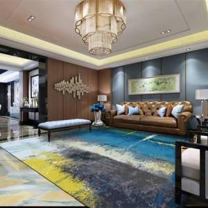 Alfombra abstracta minimalista moderna, sala de estar, mesa de café, alfombra de dormitorio, alfombra rectangular rectangular nórdica