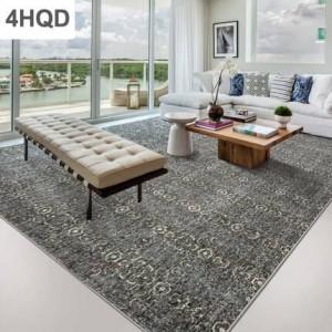 Moderno minimalista abstracto de tinta sofá mesa de café alfombra geometría hogar dormitorio nórdico de lana cama manta de Europa y América