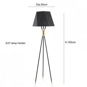 Lámpara de pie minimalista moderna Lámparas de pie negras para sala de estar Iluminación de lectura Loft Hierro Triángulo Luz de piso