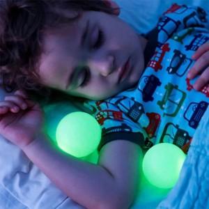 Forma de seta 7 Gradiente de color mágico Luces nocturnas Bolas resplandecientes Lámparas de mesa creativas LED para dormir junto a la cama Soporte UE / EE. UU. / Reino Unido / AU Enchufe