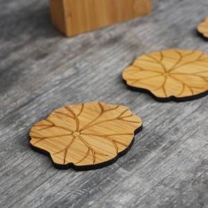 Bambú natural Posavasos de la bebida conjunto redondo Mantel Creativo taza estera almohadilla tazas de café porta copos decoración del hogar platillo Aislamiento