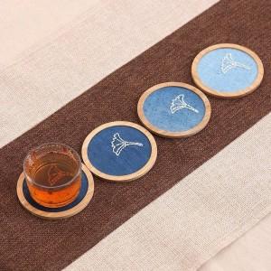 Paleta de bambú natural posavasos de café para kungfu té redondo cuadrado taza estera almohadilla mesa aislamiento antideslizante porta copos pastoral