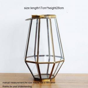 Candelabro neoclásico Cena con velas de vidrio Cena Luz de noche Luz de viento Aromaterapia Base de velas Decoración del hogar Artesanías