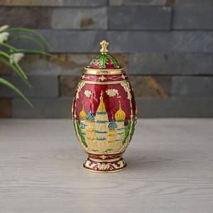 Nuevo Porta Palillos Automático Castillo de Palacio Ruso Dispensador de Palillos Tallados Organizador de Caja Metal Art Craft Kremlin Decoración