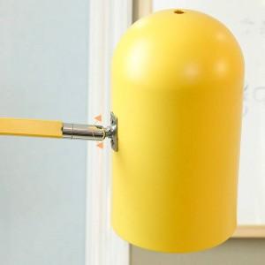 Nueva lámpara de pie clásica decoración de la sala macarons lámpara de metal colorida lámpara de cuerpo pantalla de lámpara dormitorio iluminación LED