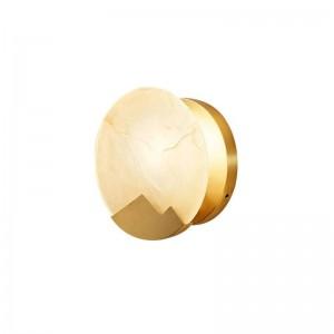 Nueva lámpara de pared de mármol clásica De metal dorado plateado montado en la pared vestíbulo de la casa iluminación del pasillo lámpara de pared aplique