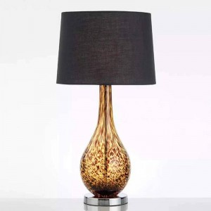 Nuevas lámparas de mesa clásicas dormitorio iluminación de la cabecera del cuerpo de cristal paño americano estudio de arte lectura lámpara E27 luz accesorio de iluminación LED