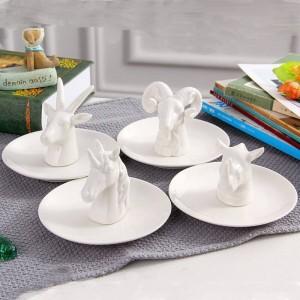 Nuevo estilo nórdico placa de joyería de antílope anillo de joyería de cerámica collar bandeja bandeja de almacenamiento decoración de escritorio joyería artesanía