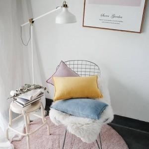 Noble Velet Impreso Funda de Cojín Diseñador de Lujo Fundas de Almohadas Decorativas Almofadas Cojines Sofá Sólido Azul Amarillo Cubiertas de Coche