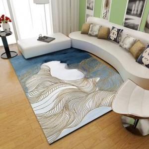 Alfombra nórdica Sala de estar Moderna Mesa de té simple Alfombra Personalizada Net Red Dormitorio Habitación Llena de alfombras