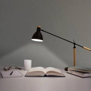 Nordic Lámpara de mesa LED Minimalismo luz de mesa Interruptor Moderno negro blanco rojo color madera Sala de estar Dormitorio Oficina Lámpara de lectura