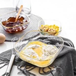 Nordic light luxury wind hammer glass Western bowl ensalada sopa bowl gourmet belleza creativo plaza Phnom Penh bowl