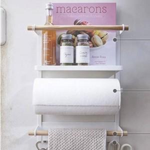 Estante de almacenamiento de hierro nórdico de metal Refrigerador de adsorción de imán Botellas de condimentos Diversos Soportes de almacenamiento Organizador para el hogar