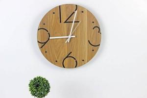Nordic moda minimalista ronda de madera reloj de pared sala de estar dormitorio estudio mute reloj de pared relojes de pared decoración de la pared