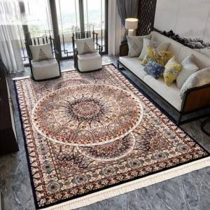 Palacio nórdico estilo europeo americano clásico alfombra persa turco importado sala de estar mesa de café hogar rectángulo