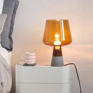Nordic post lámpara de escritorio moderna Lámpara de mesa de cemento creativa Lámpara de lectura E27 Lámpara LED Estudio sala de estar decoración del arte del hogar