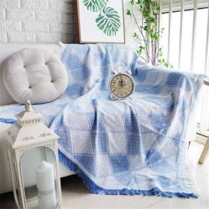 Nordic Romantic Geometry Throw Blanket Sofa Funda decorativa Colorful Cobertor Sofa / Beds Plaid Mantas de costura antideslizantes