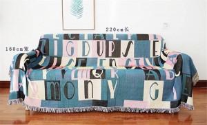 Throw nórdico Manta Hilo Sofá Cubierta Carta de la moda Cubierta de protección contra el polvo Plaid Funda Cobertor Mantas para camas Borla