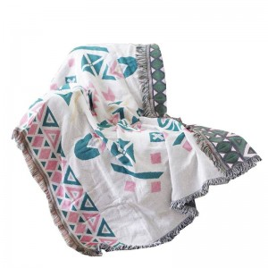Cobertor nórdico Hilo Funda de sofá Funda de protección contra el polvo geométrica Funda protectora Cobertor Mantas para camas Borla navideña