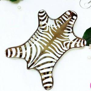 Patrón de piel de tigre nórdico anillo de cerámica collar bandeja de almacenamiento de aperitivos cosméticos creativos almacenamiento de escritorio adornos decorativos